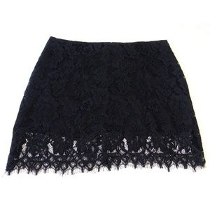 BB Dakota Black Lace Mini Skirt